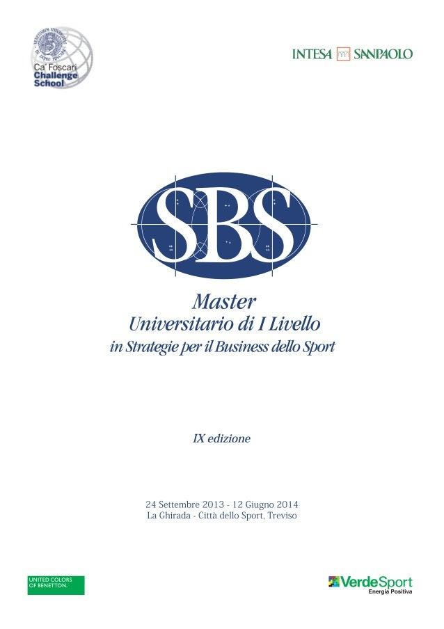 Master SBS IX EDIZIONE