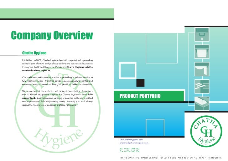 Company Overview  Chatha Hygiene  Established in 2002, Chatha Hygiene has built a reputation for providing  reliable, cost...