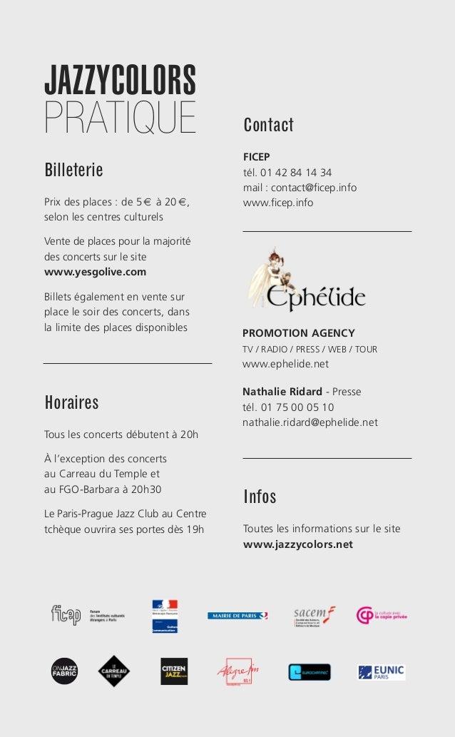 Programme Jazzycolors 2015