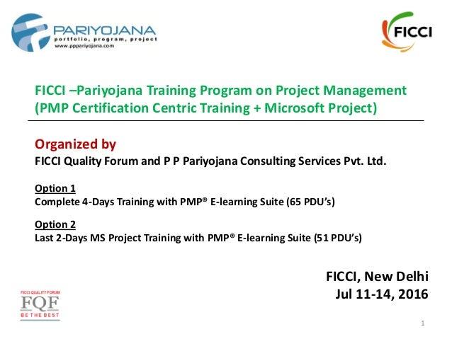 FICCI –Pariyojana Training Program on Project Management