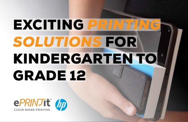 Brochure kindergarten to grade 12 Cloud Printing solutions