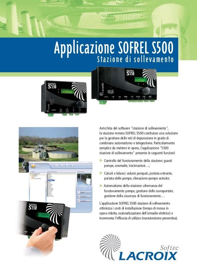"""Applicazione SOFREL S500Stazione di sollevamento Arricchita del software """"stazione di sollevamento"""", la stazione remota SO..."""