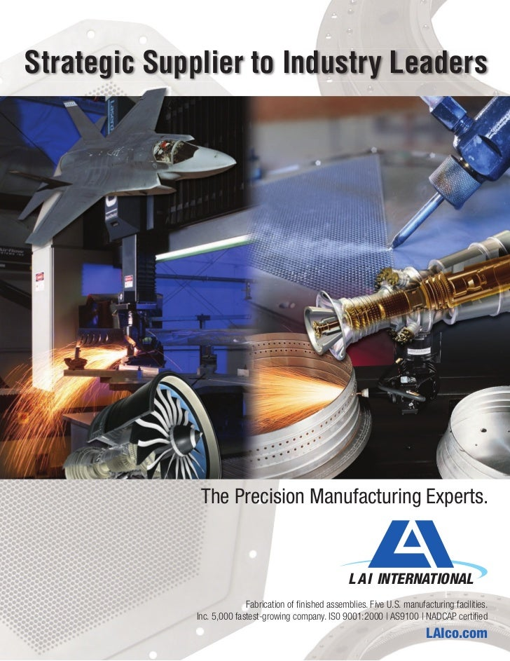 Strategic Supplier to Industry Leaders               The Precision Manufacturing Experts.                                 ...