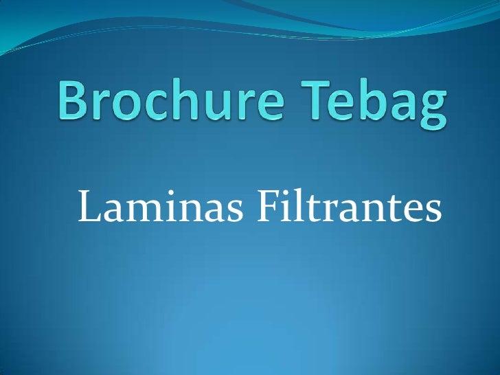Laminas Filtrantes
