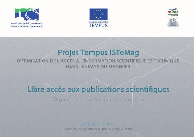 Libre accès aux publications scientifiques