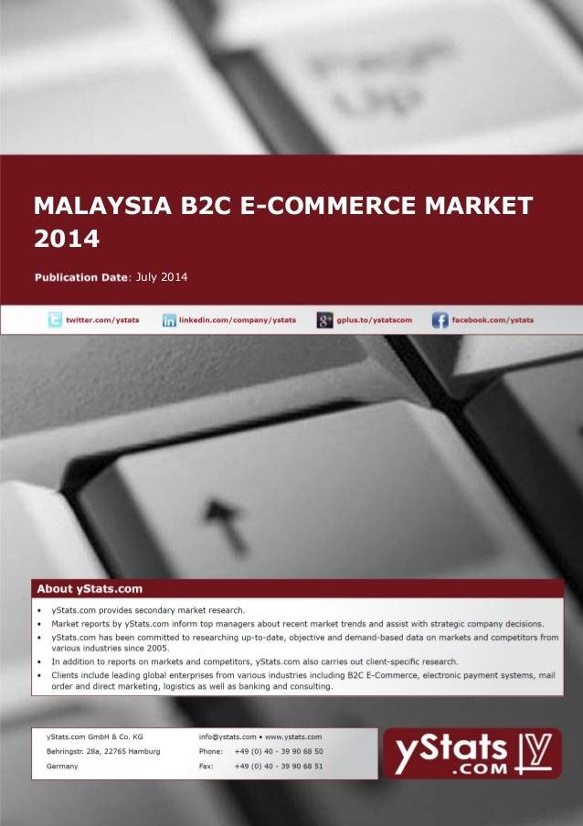 MALAYSIA B2C E-COMMERCE MARKET 2014 July 2014
