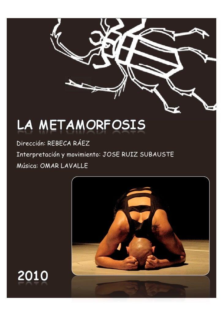 Dirección: REBECA RÁEZ Interpretación y movimiento: JOSE RUIZ SUBAUSTE Música: OMAR LAVALLE