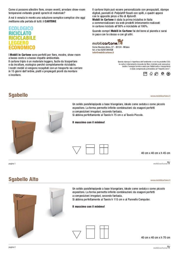 Mobili A Basso Prezzo Milano.Brochure Mobili Cartone