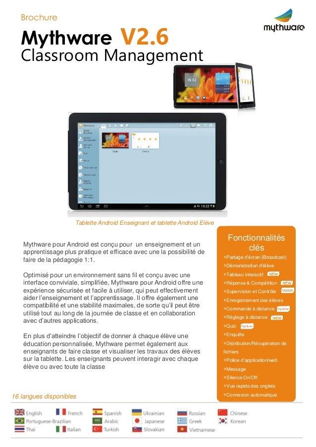 Mythware pour Android est conçu pour un enseignement et un apprentissage plus pratique et efficace avec une la possibilité...