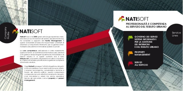 Natisoft nasce nel 2005 grazie alla lunga esperienza matu- rata dai suoi soci fondatori nell'ambito dei sistemi informa- t...