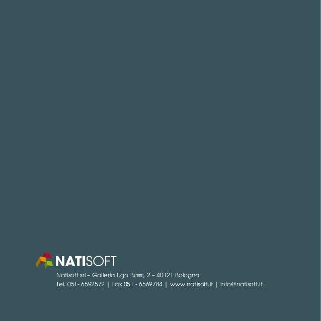 Natisoft srl – Galleria Ugo Bassi, 2 – 40121 Bologna Tel. 051- 6592572   Fax 051 - 6569784   www.natisoft.it   info@natiso...