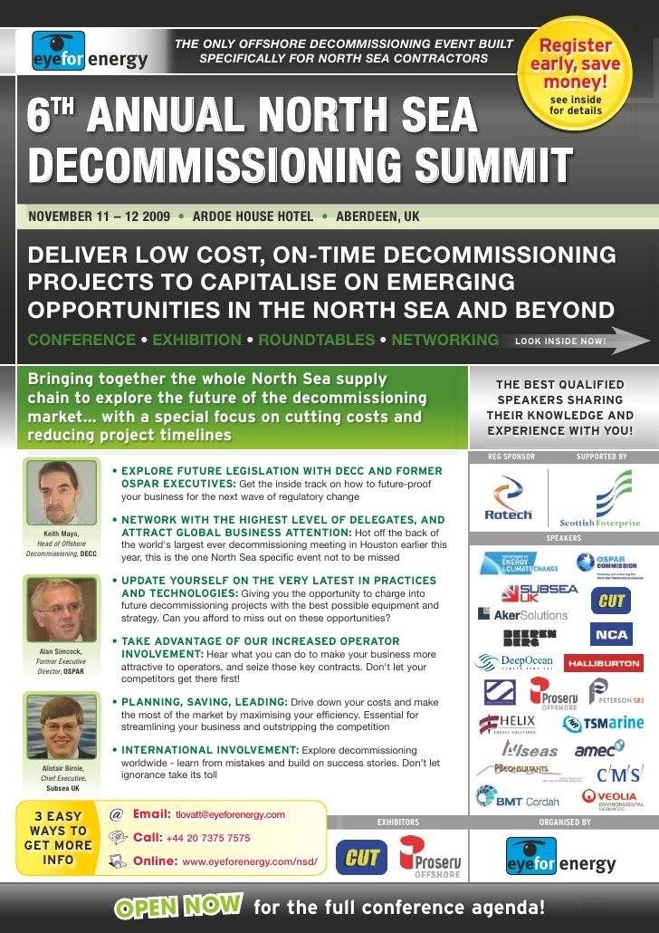The ONLY OffshOre decOmmissiONiNg eveNT buiLT                            Register                                         ...
