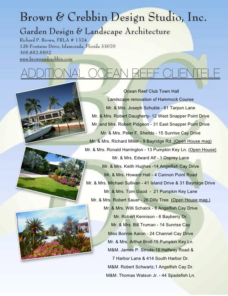 Ocean reef portfolio for 305 salon tavernier