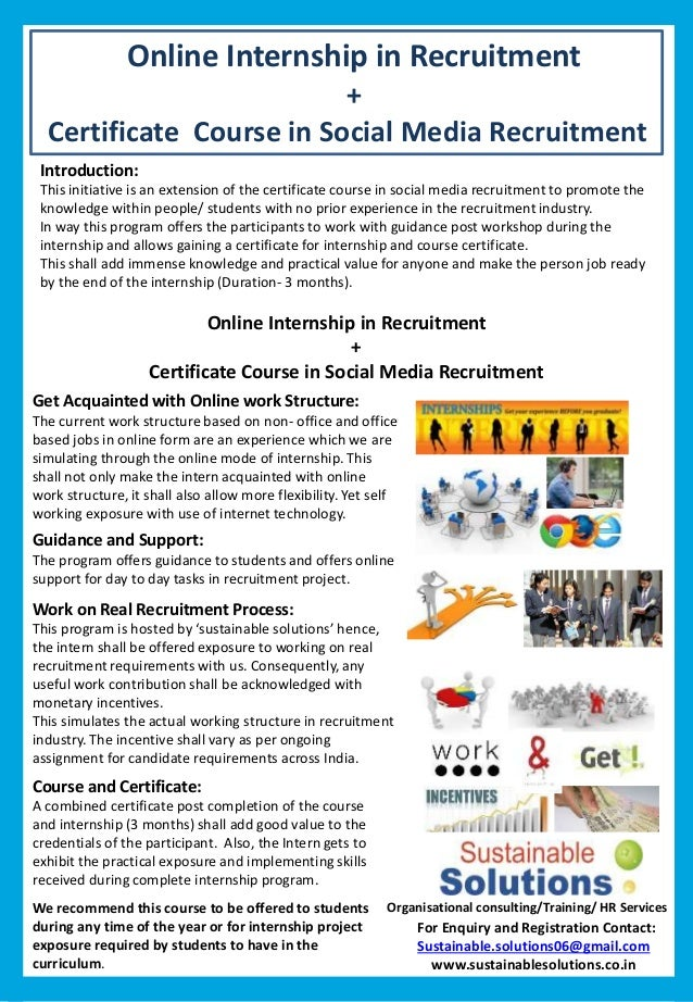 certificate in recruitment practice coursework Learning everything about sas is now a great possibility because of the availability of a sas certification course a free sas practice course and test is now introduced to all individuals and professionals.