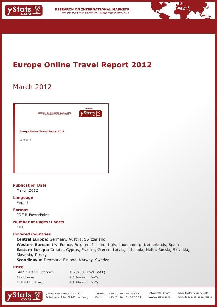 Europe Online Travel Report 2012March 2012                                                                              Pr...