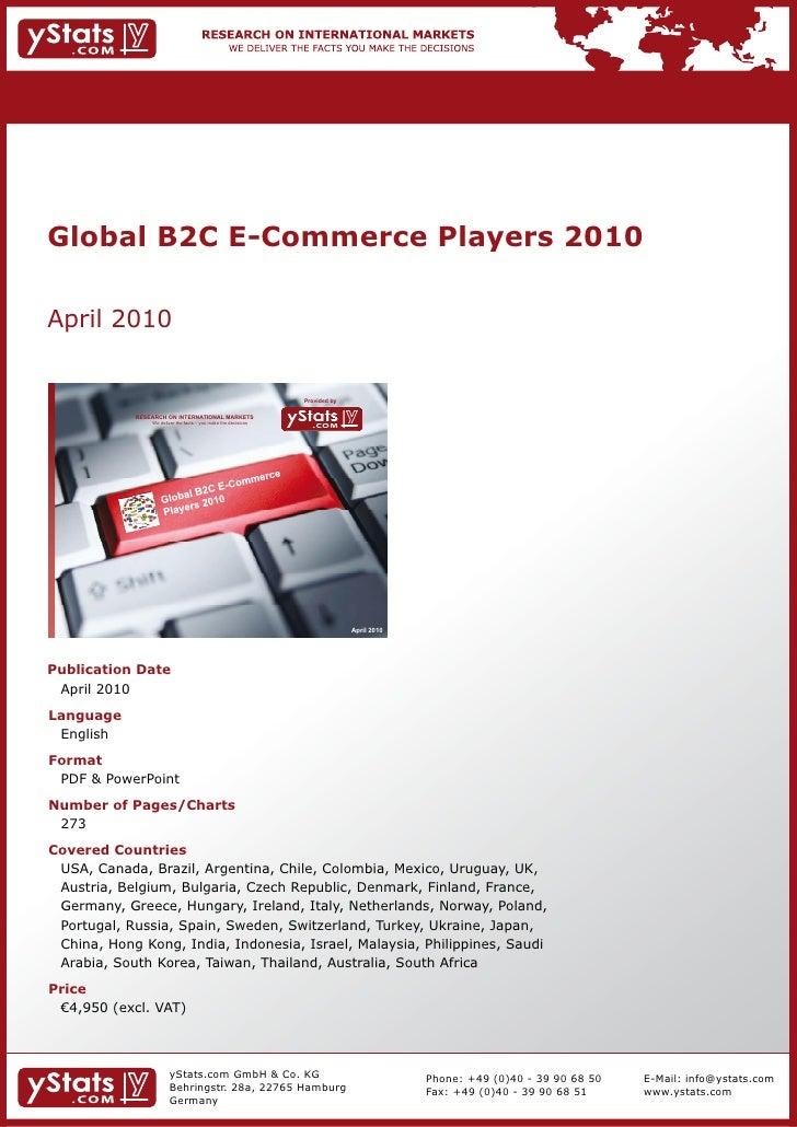 Global B2C E-Commerce Players 2010    April2010                                                                          ...