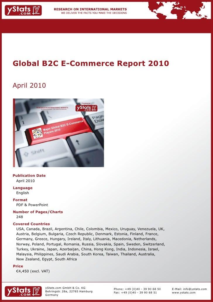 Global B2C E-Commerce Report 2010    April2010                                                                           ...