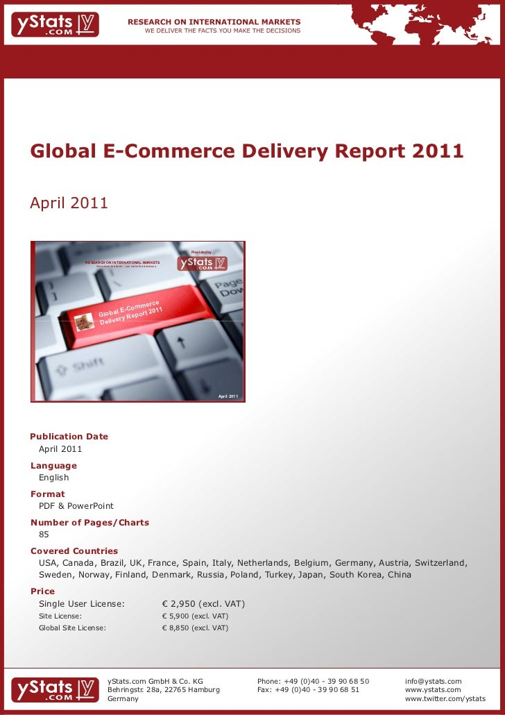 Global E-Commerce Delivery Report 2011April 2011                                                                          ...