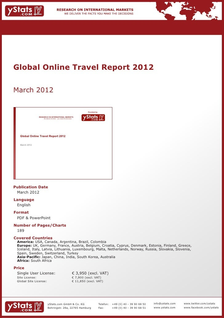 Global Online Travel Report 2012March 2012                                                                                ...