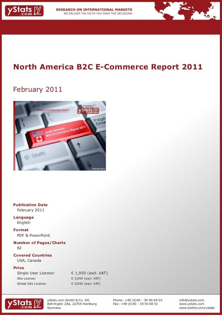 North America B2C E-Commerce Report 2011February 2011                                                                     ...