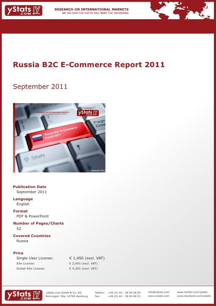 Russia B2C E-Commerce Report 2011September 2011                                                                           ...