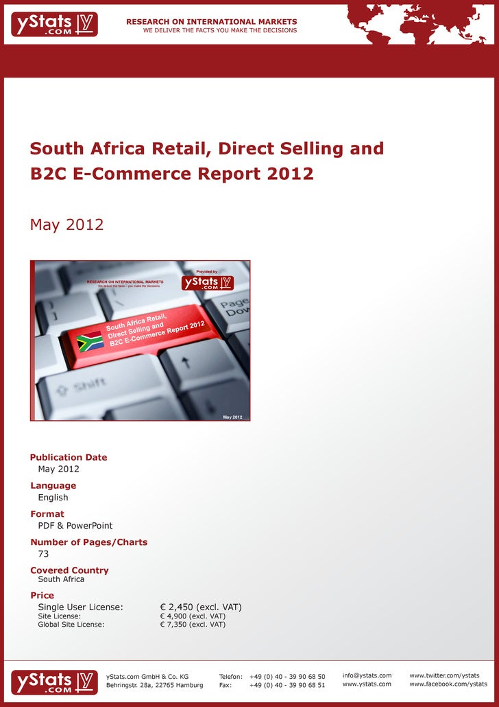 South Africa Retail, Direct Selling andB2C E-Commerce Report 2012May 2012                                                 ...