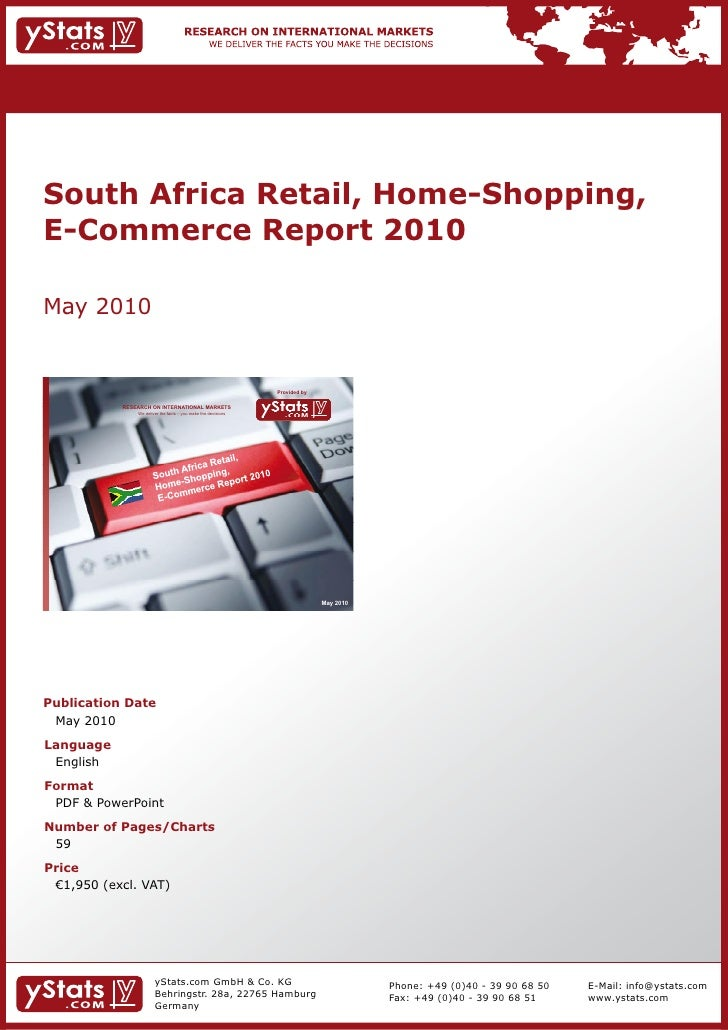 South Africa Retail, Home-Shopping,E-Commerce Report 2010May 2010                                                         ...