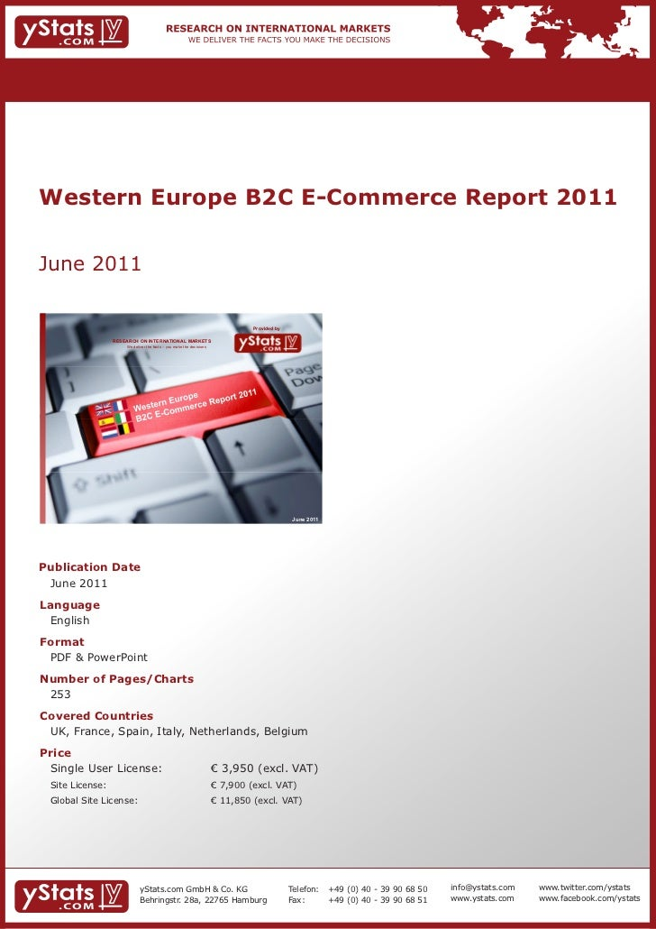 Western Europe B2C E-Commerce Report 2011June 2011                                                                        ...
