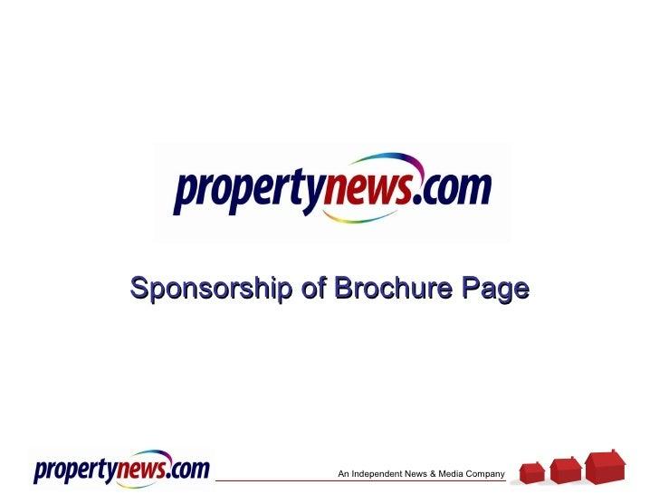 Sponsorship of Brochure Page