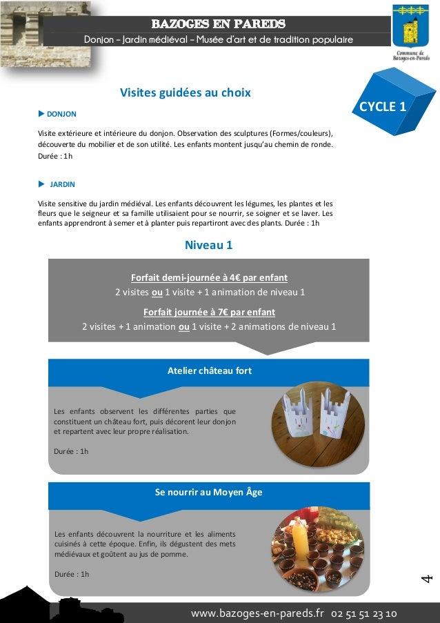 Brochure p dagogique 2016 2017 for Equip jardin poitiers