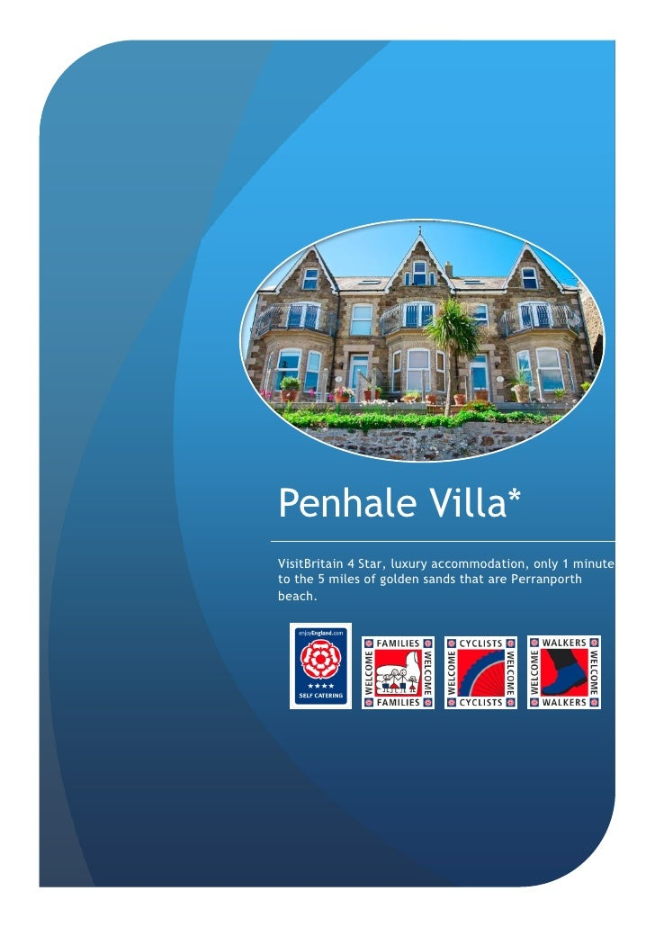 Penhale Villa* VisitBritain 4 Star, luxury accommodation, only 1 minute to the 5 miles of golden sands that are Perranport...