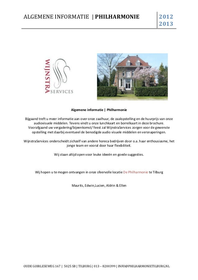 ALGEMENE INFORMATIE | PHILHARMONIE                                                       2012                             ...