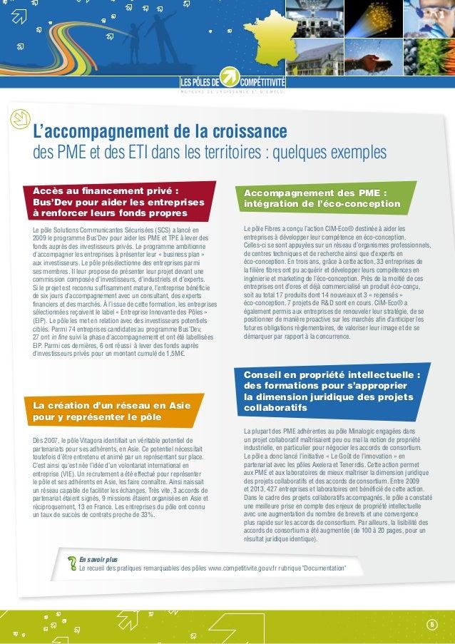 L'accompagnement de la croissance des PME et des ETI dans les territoires : quelques exemples Accès au financement privé :...
