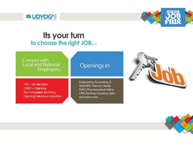 The Mega Job Fair: Udyog 2015 Slide 3