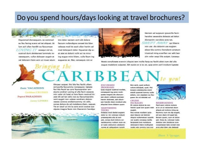 brochure or one stop vacation planner