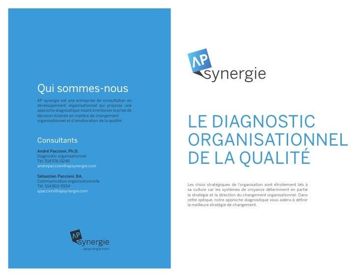 Qui sommes-nousAP synergie est une entreprise de consultation endéveloppement organisationnel qui propose uneapproche diag...