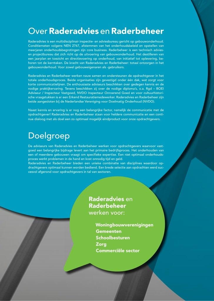 Brochure Raderadvies En Raderbeheer