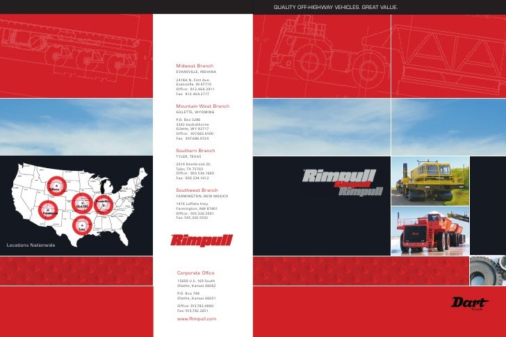 For nearly 40 years, Rimpull has been a proud leader in off-highway vehicles and products. From   Rimpull strives to produ...