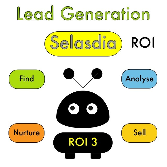 Lead Generation Selasdia Find Nurture Sell Analyse ROI 3 ROI