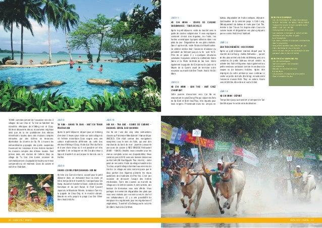 30 - KHOA VIET TRAVEL KHOA VIET TRAVEL - 31 JOUR 11: JOUR 12: HO CHI MINH - COURS DE CUISINE SAýGONNAISE - TOUR DE VILLE A...