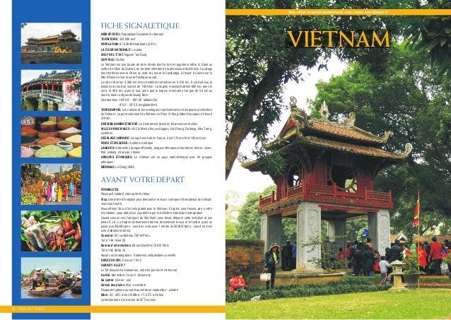 Nos sites: www.khoaviettravel.com / www.hanoitours.fr NOM OFFICIEL: Reùpublique Socialiste du Vietnam TERRITOIRE: 333.000 ...
