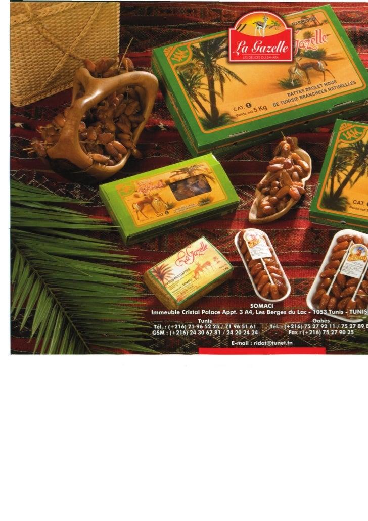 Brochures dattes la gazelle