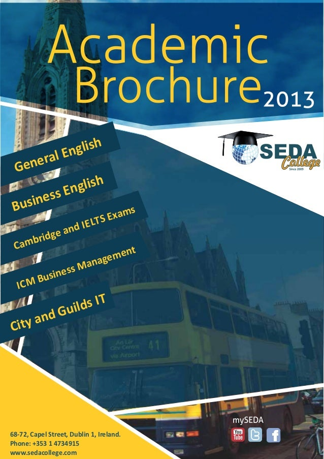 Academic Brochure Of Seda College