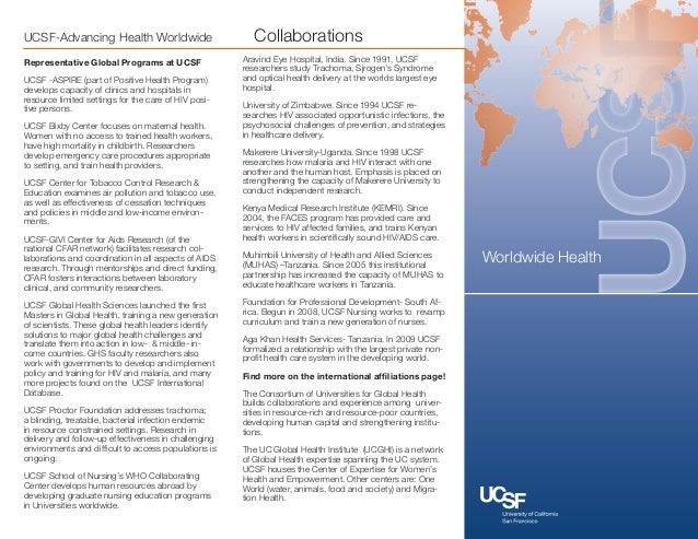 UCSF-Advancing Health Worldwide                          CollaborationsRepresentative Global Programs at UCSF             ...