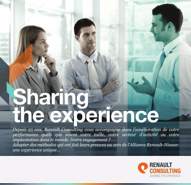Brochure Renault Consulting - Sharing The Experience