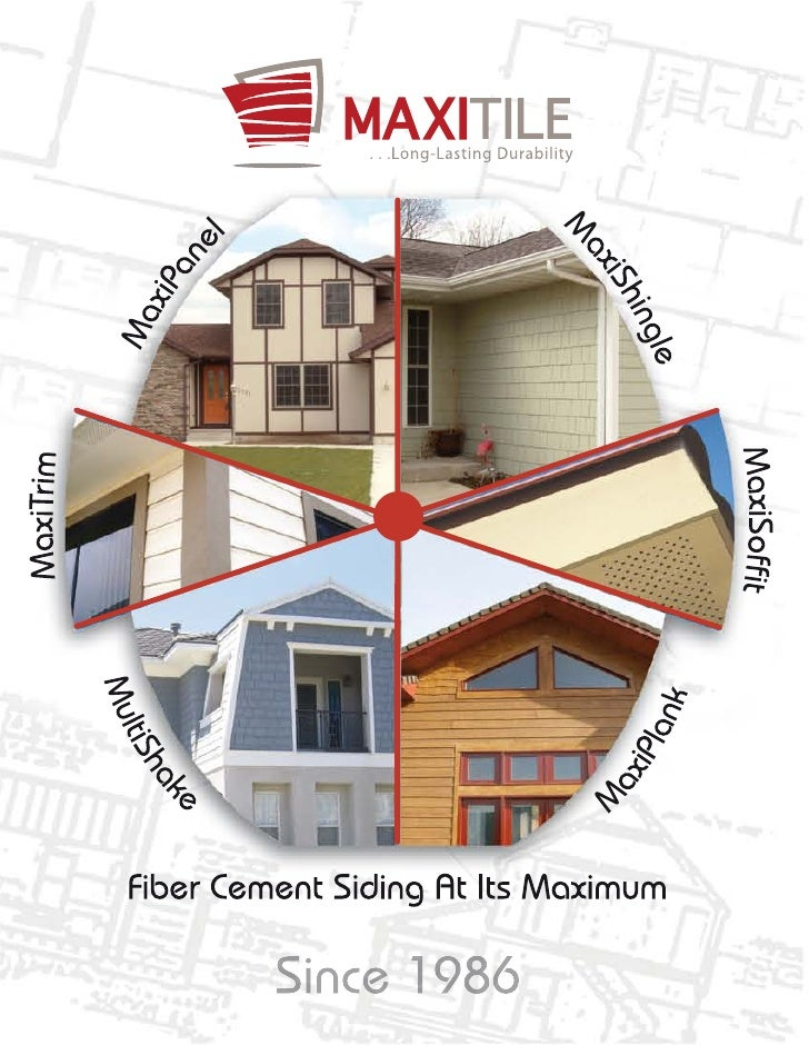 Established in 1986, Maxitile is a              MaxiShingle are intended for applications in walls and facades, offering t...