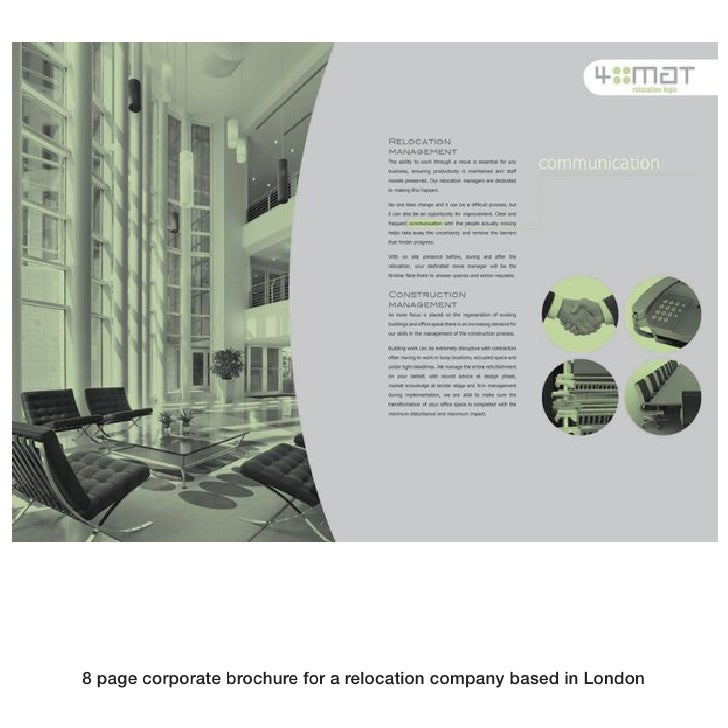 8 page corporate brochure for a relocation company based in London