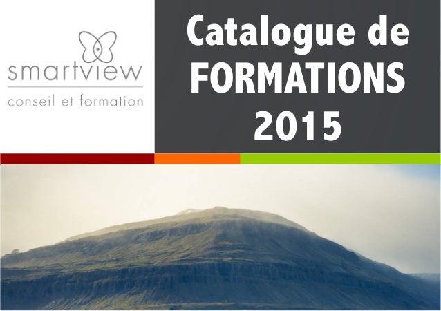 Catalogue de FORMATIONS 2015