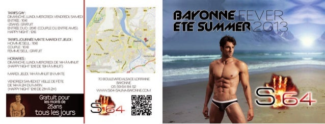 Brochures GAY S64 SAUNA FEVER BAYONNE 2013
