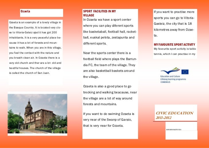 Brochure Sports Facilities In My Area By Xabi